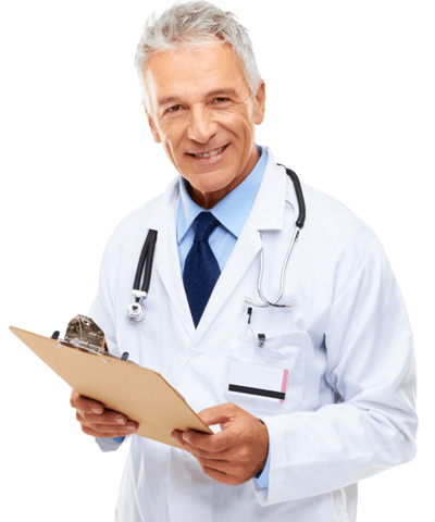 image of doctor with clipboard