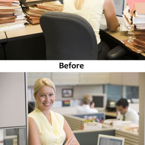 businesswomanincubicle_before_and_after