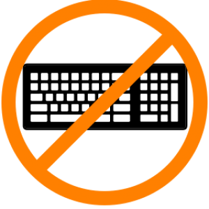 no keyboard