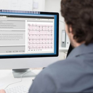 doctor with EMR