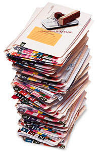 image of a stack of medical file folders