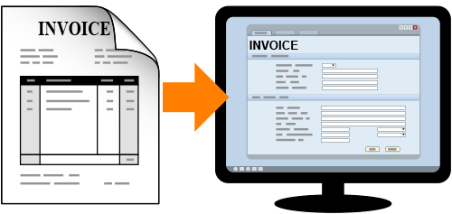 Match paper invoice to computer invoice