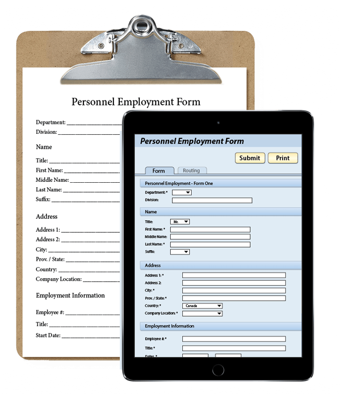 Document Management through Eforms