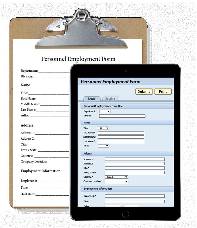 Document Management through Eforms