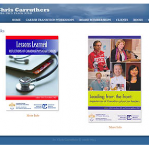 Screen capture and link to Dr. Chris Carruther's website