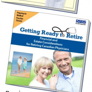 Image of two books, one a retirement and estate guide, the other a medical practice closure guide.